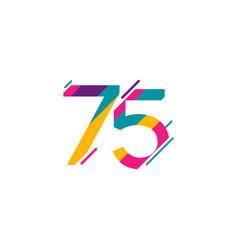 75 years anniversary celebration template design vector