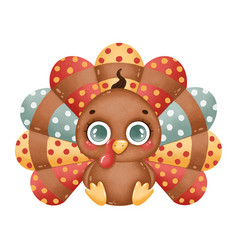 A cute cartoon turkey boy vector
