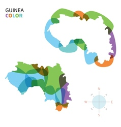 Abstract color map of Guinea vector image