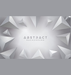 abstract modern 3d triangle gray background vector image
