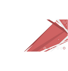 abstract red and gray template vector image