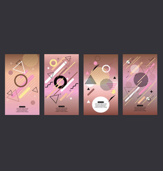 abstract rose gold design vector image