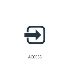 Access icon simple element access vector