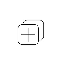 Add tab icon vector