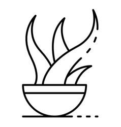 aloe vera plant pot icon outline style vector image