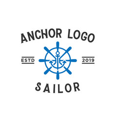 anchor sailor vintage logo design inspiration vector image