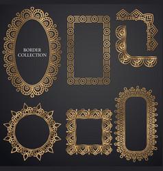 art-deco ornamental frame vector image