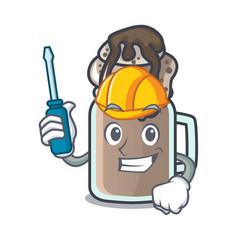 Automotive milkshake mascot cartoon style vector
