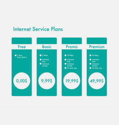 Banners hosting plans vector