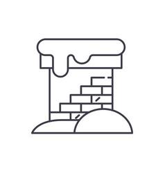 brick chimney line icon concept brick chimney vector image