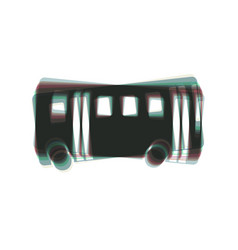 bus simple sign colorful icon shaked with vector image
