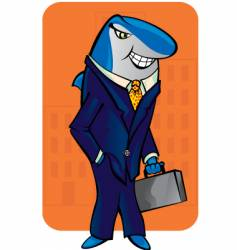 business shark vector image