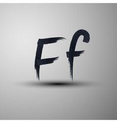 calligraphic hand-drawn marker or ink letter F vector image