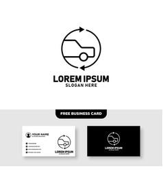 Car repair garage logo design vector