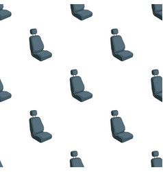 Car seatcar single icon in cartoon style vector