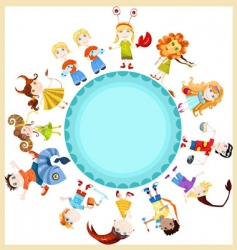 children horoscope vector image vector image