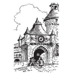 clocks rondaine vintage vector image
