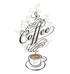 Coffee cup of Baroque vector
