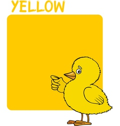 Color Yellow and Chick Cartoon vector