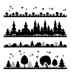 Composition black forest on a white background vector