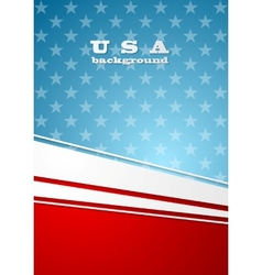 Corporate bright abstract background USA colors vector image