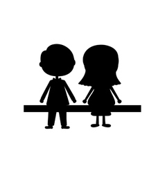 couple male and female icon image vector image