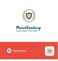 Creative protected sheild logo design flat color vector