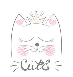 Cute cat meow vector