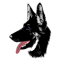 Dog german shepherd logo head for vector