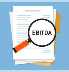 ebitda earnings before interest tax depreciation vector image
