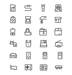 Electronics Line Icons 4 vector image