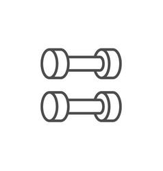 Fitness dumbbells line outline icon vector