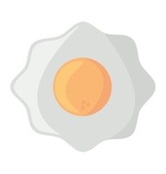 fried egg nutrition breakfast design shadow vector image