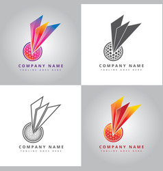Golf ball logo design inspiration vector