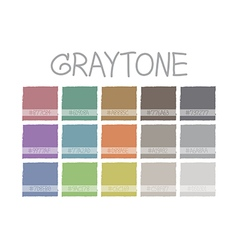 Graytone Color Tone vector image