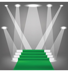 green carpet vector image