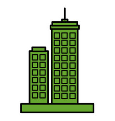green city buildings icon vector image