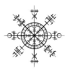 Grunge scandinavian viking tattoo object vector
