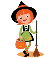 Halloween witch on a white background vector image