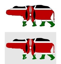 Hippo Kenya vector image
