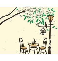Lantern cafe vector
