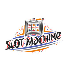 logo for slot machine vector image