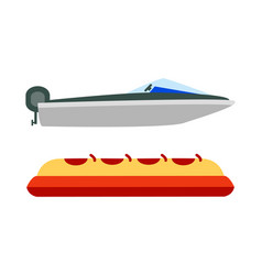 marine and banana boats color vector image