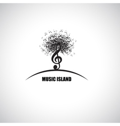 Music Island vector