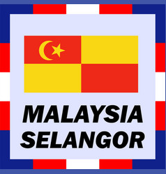 Official ensigns flag and coat of arm of malaysia vector