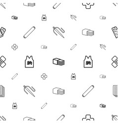Patch icons pattern seamless white background vector