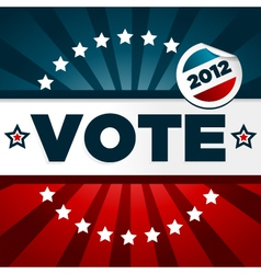 Patriotic voting poster vector