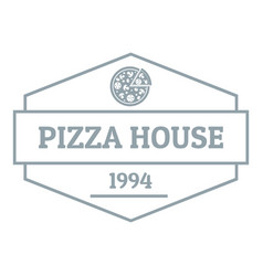 Pizza house logo simple gray style vector