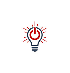 Power idea logo icon design vector