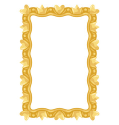 princess frame with hearts and crowns vector image